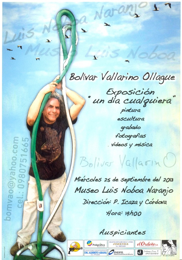 bolivar vallarino will have his exhibition in the luis noboa naranjo museum founded by alvaro noboa