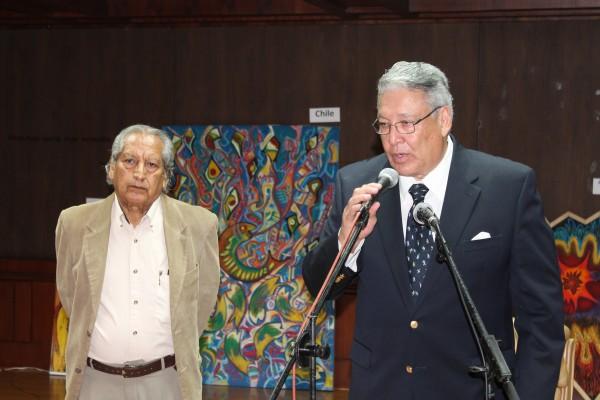Pablo Martinez (Director del Museo) y Pepe Luque (Curador de la Bienal).