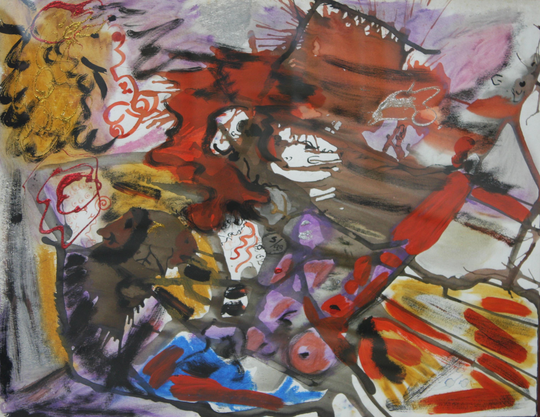 Este 1ero de Abril, el artista guayquileño Marcos Santos Espinel expondrá sus coloridos cuadros en la sede del Museo Luis Noboa Naranjo